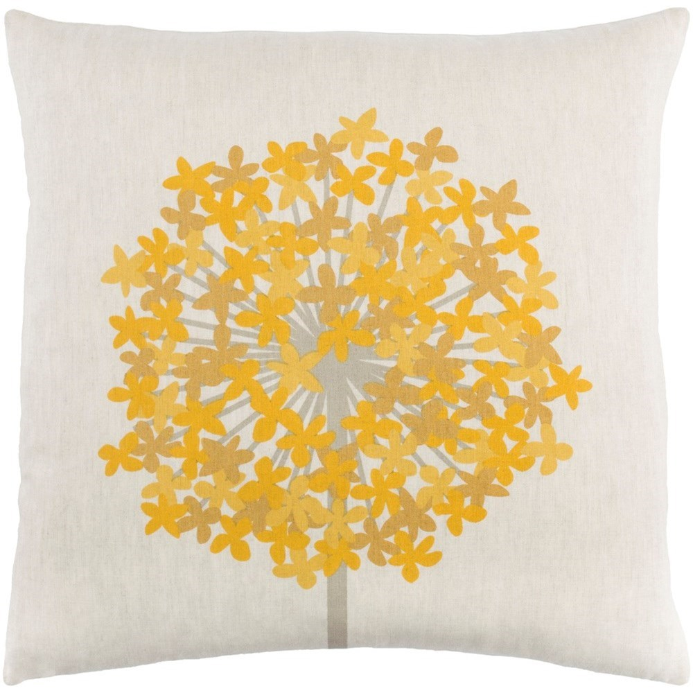 Agapanthus 18 x 18 x 4 Down Throw Pillow by Ruby-Gordon Accents at Ruby Gordon Home