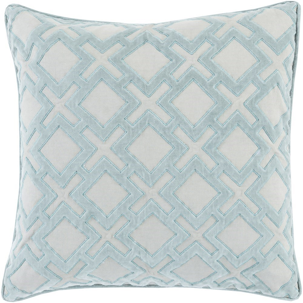 Alexandria 22 x 22 x 5 Down Throw Pillow by Ruby-Gordon Accents at Ruby Gordon Home