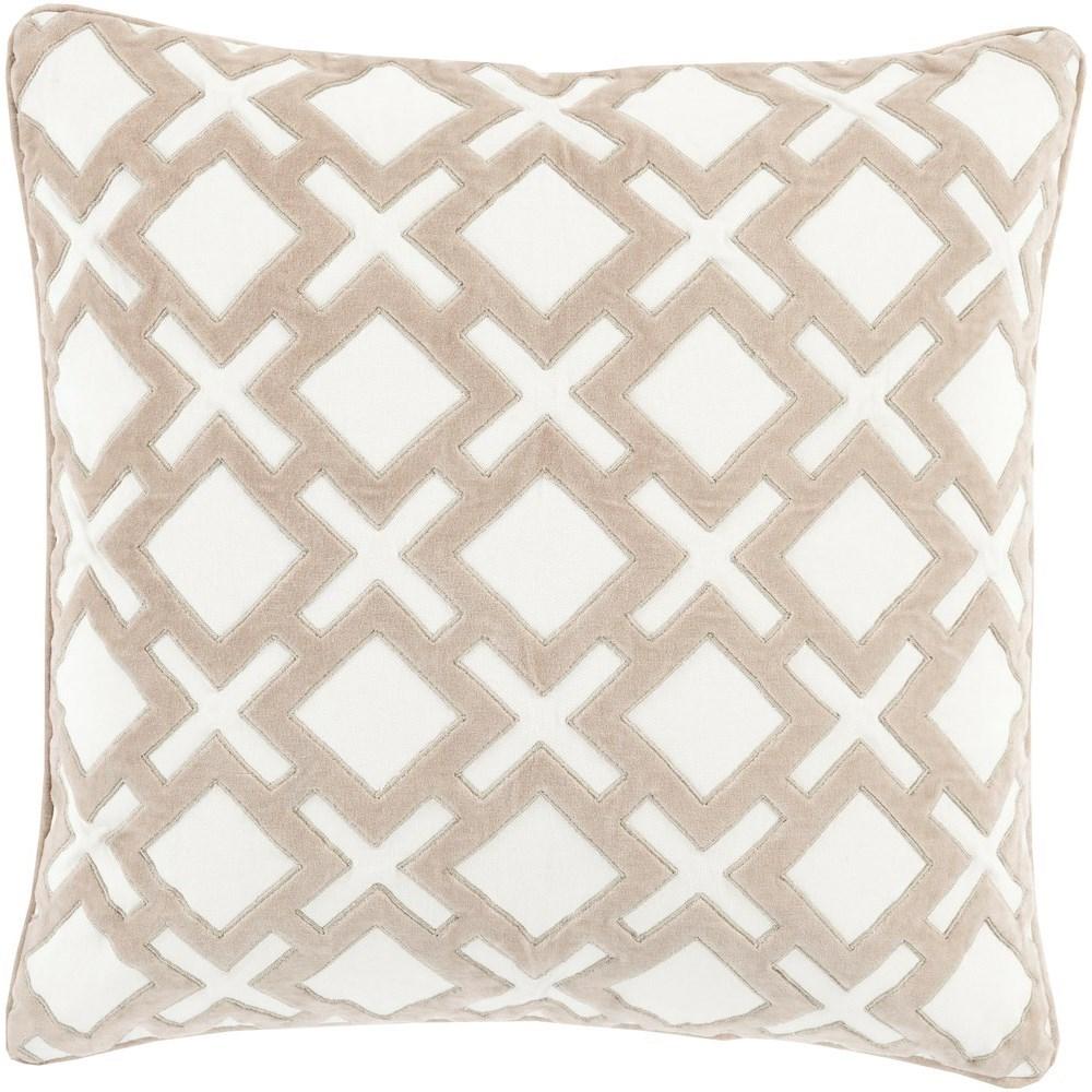 Alexandria 20 x 20 x 4 Down Throw Pillow by Surya at Fashion Furniture