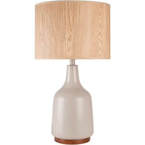 Gray Contemporary Table Lamp