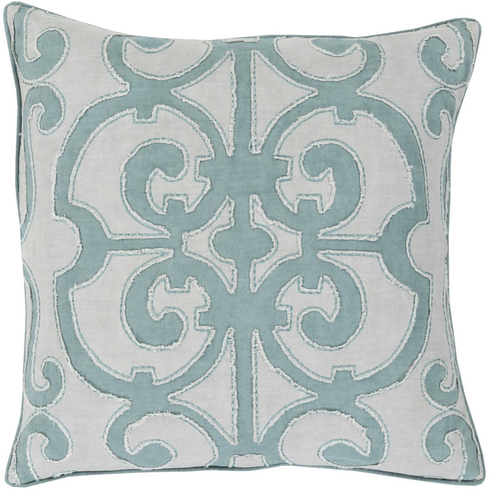 Amelia 18 x 18 x 4 Down Throw Pillow by Surya at Suburban Furniture