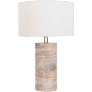 Natural Finish Contemporary Table Lamp