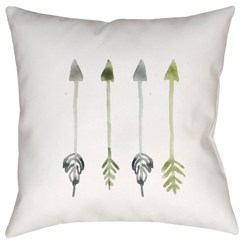 Arrows 18 x 18 x 4 Polyester Throw Pillow by Ruby-Gordon Accents at Ruby Gordon Home