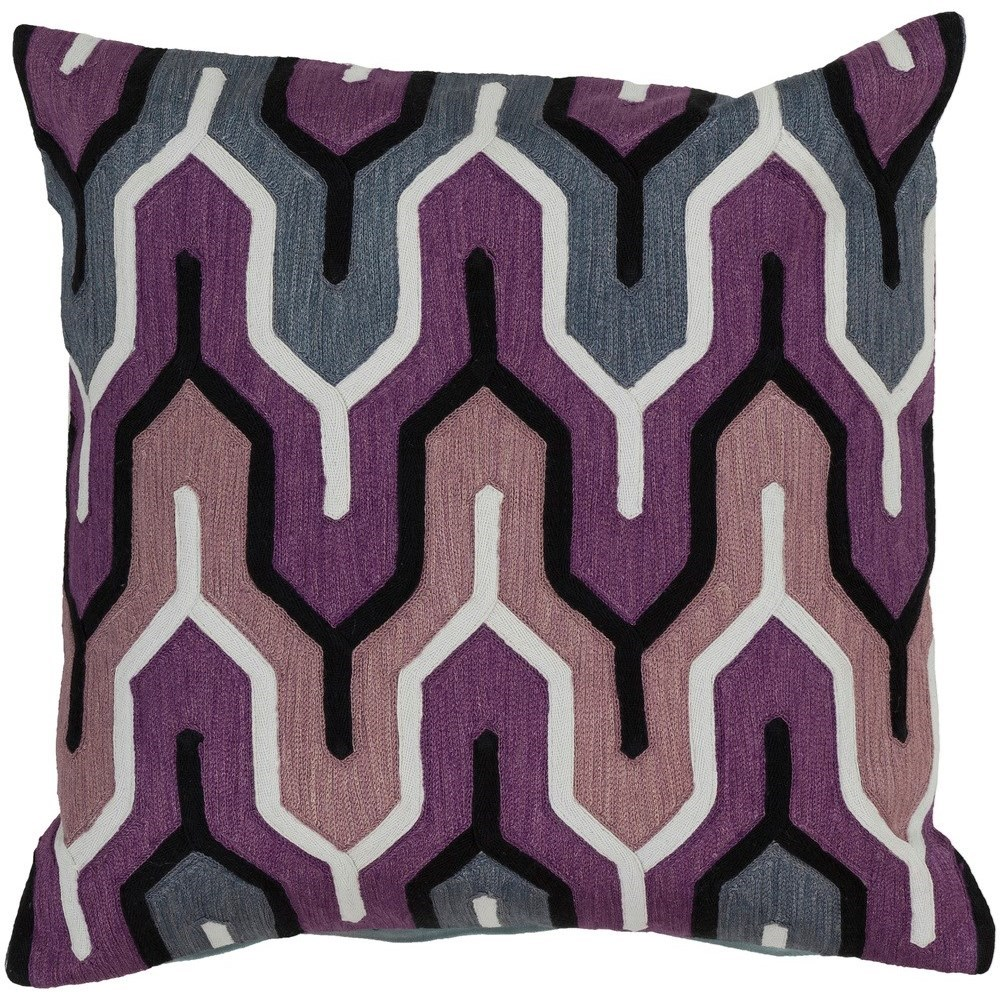 Aztec 22 x 22 x 5 Down Throw Pillow by Ruby-Gordon Accents at Ruby Gordon Home