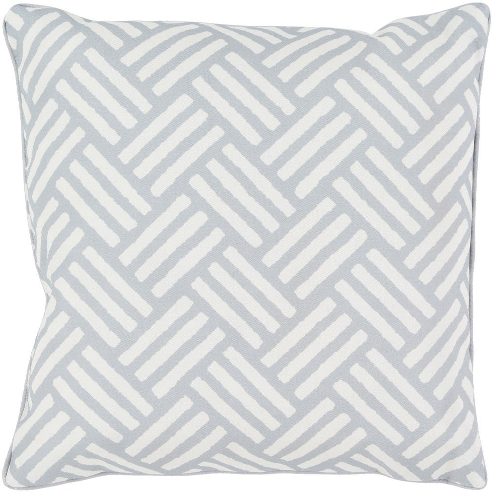 Basketweave 16 x 16 x 4 Polyester Throw Pillow by Surya at SuperStore