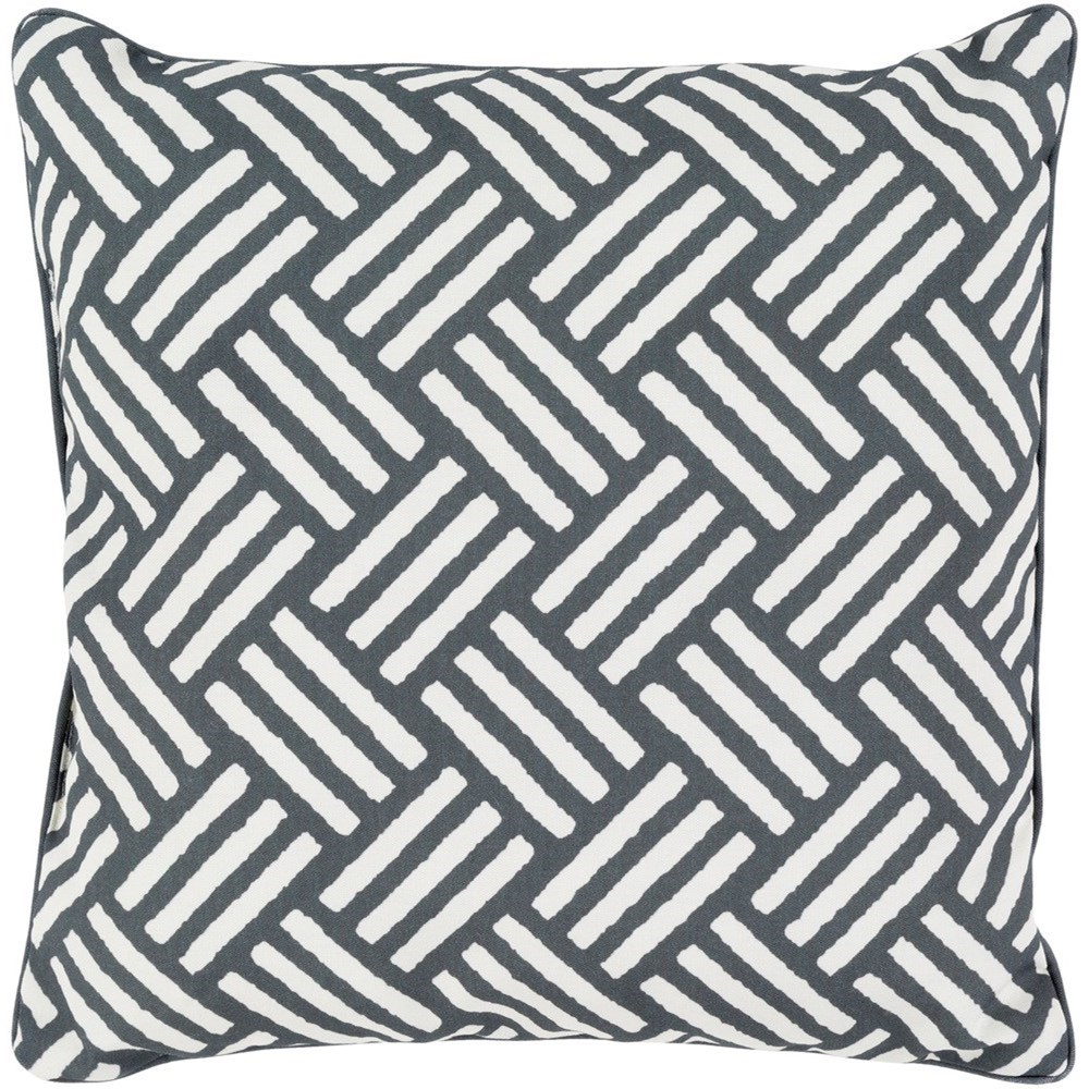 Basketweave 20 x 20 x 4 Polyester Throw Pillow by Ruby-Gordon Accents at Ruby Gordon Home