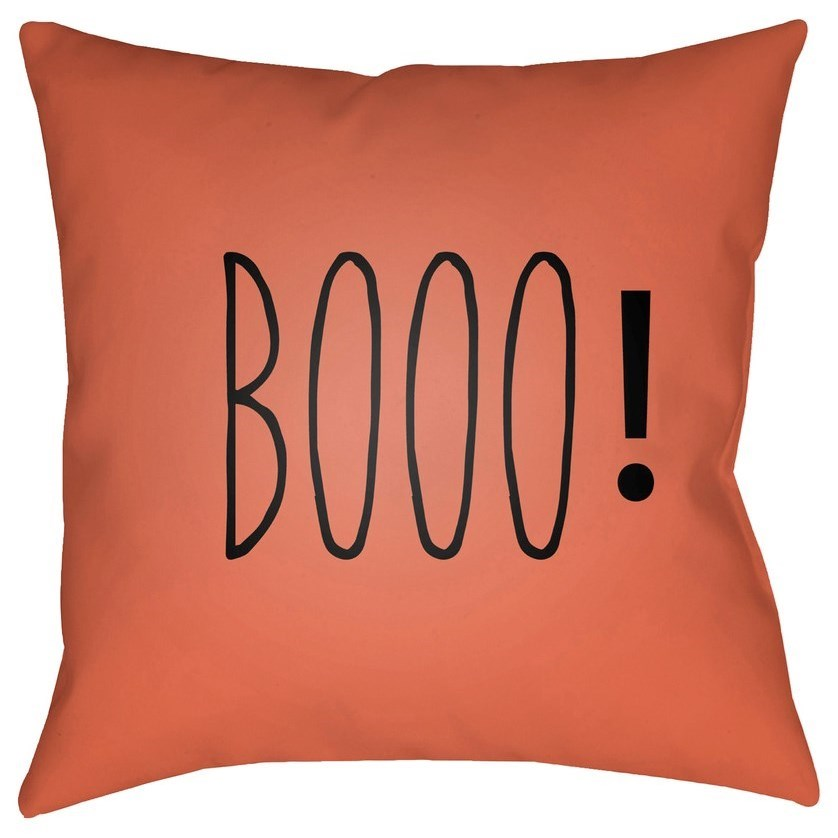 Boo 20 x 20 x 4 Polyester Throw Pillow by Surya at Del Sol Furniture
