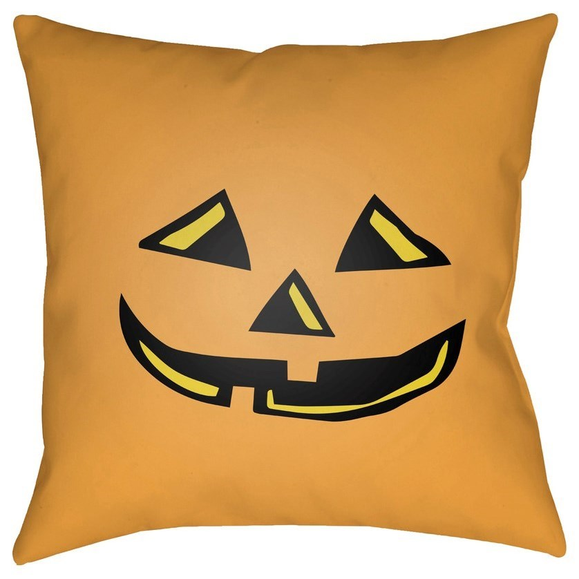 Boo 18 x 18 x 4 Polyester Throw Pillow by Surya at Fashion Furniture