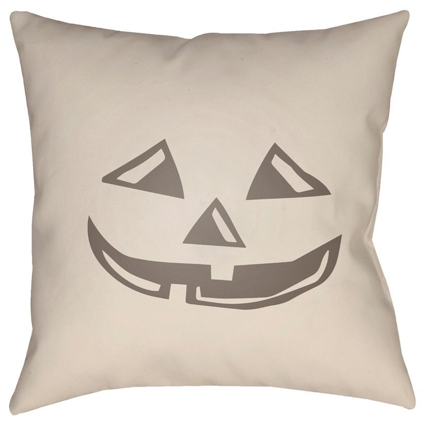 Boo 20 x 20 x 4 Polyester Throw Pillow by Surya at Dean Bosler's