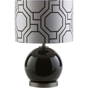 Solid Black Modern Table Lamp