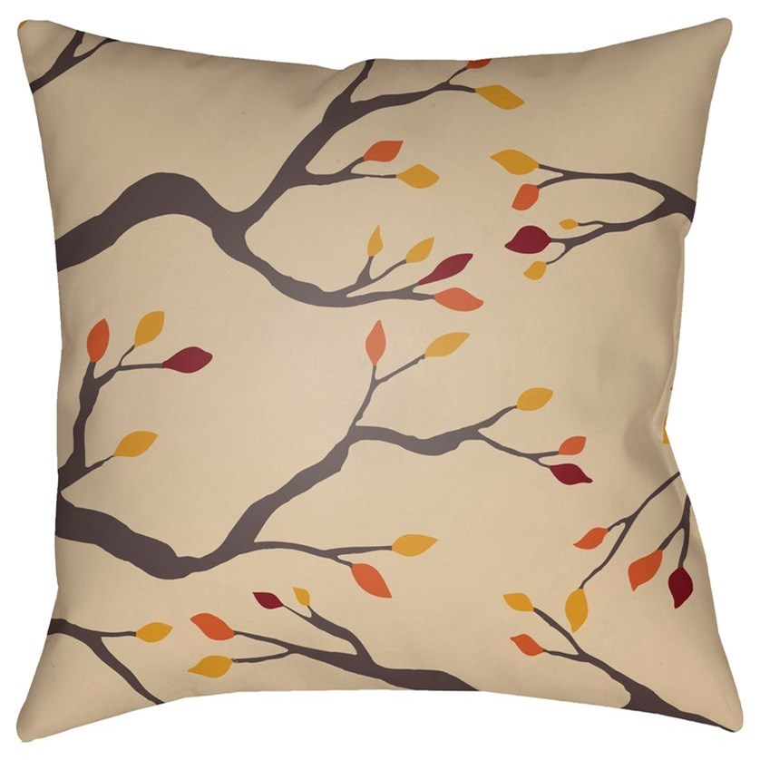 Branches 18 x 18 x 4 Polyester Throw Pillow by Surya at SuperStore