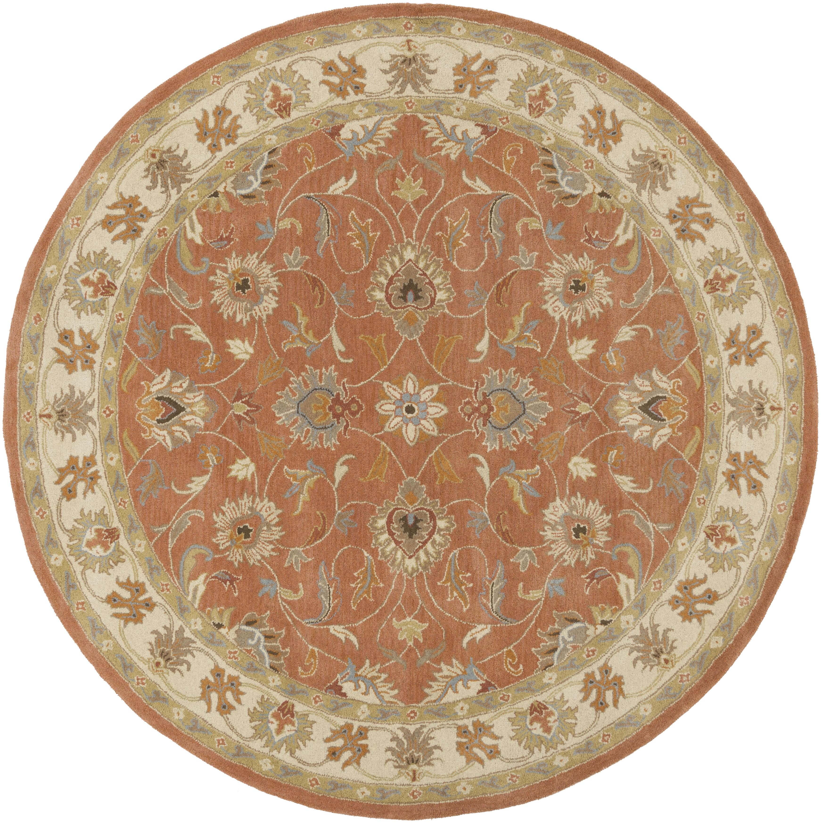 "Caesar 9'9"" Round by Surya at Suburban Furniture"