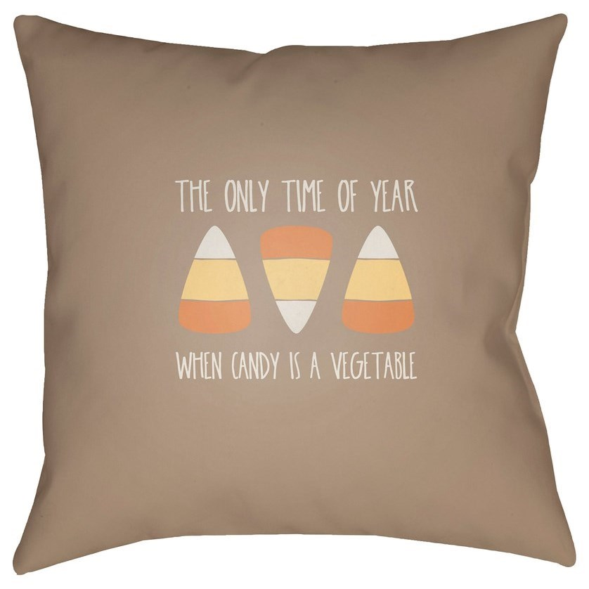 Candy Corn 20 x 20 x 4 Polyester Throw Pillow by Ruby-Gordon Accents at Ruby Gordon Home