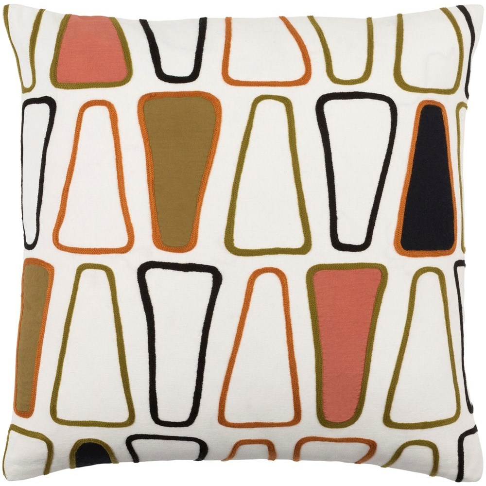 Charade 22 x 22 x 5 Down Throw Pillow by Ruby-Gordon Accents at Ruby Gordon Home