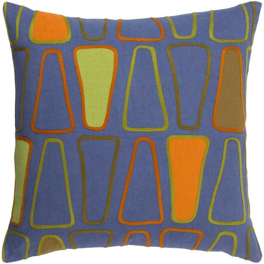 Charade 22 x 22 x 5 Polyester Throw Pillow by Ruby-Gordon Accents at Ruby Gordon Home