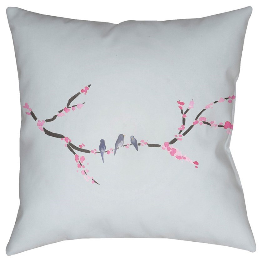Cherry Blossoms 20 x 20 x 4 Polyester Throw Pillow by Ruby-Gordon Accents at Ruby Gordon Home