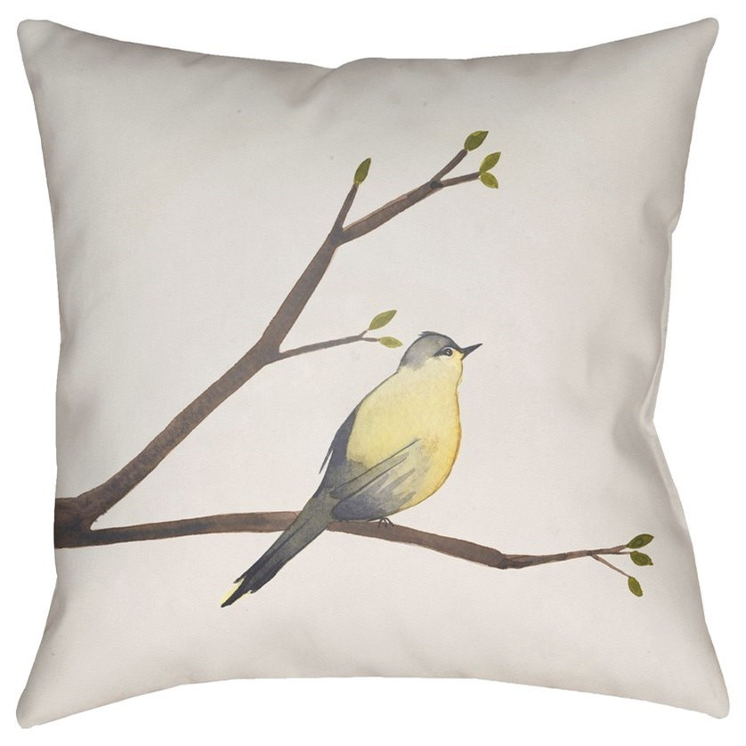 Chickadee 18 x 18 x 4 Polyester Throw Pillow by Ruby-Gordon Accents at Ruby Gordon Home