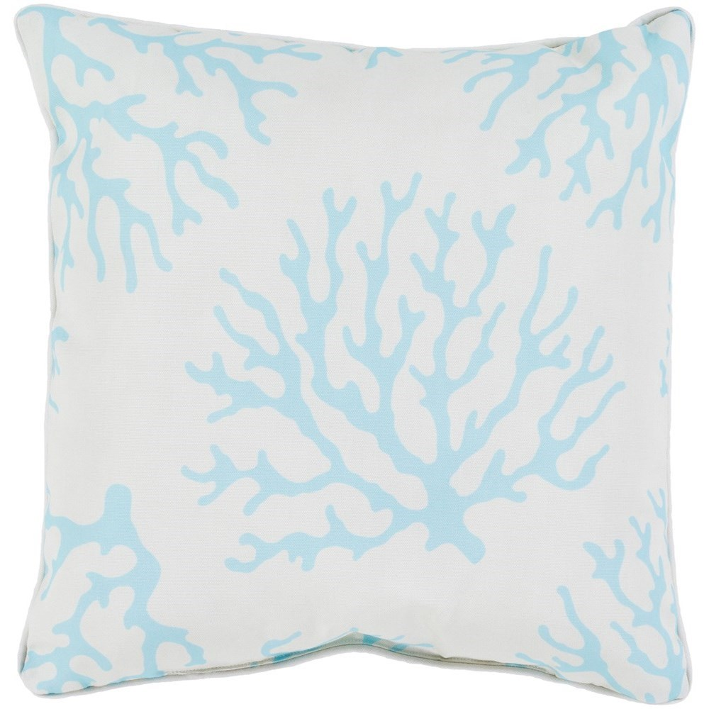 Coral 16 x 16 x 4 Polyester Throw Pillow by Ruby-Gordon Accents at Ruby Gordon Home