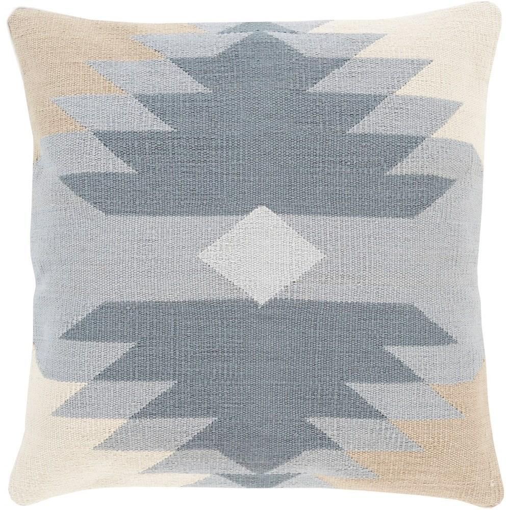 Cotton Kilim 18 x 18 x 4 Down Throw Pillow by Ruby-Gordon Accents at Ruby Gordon Home