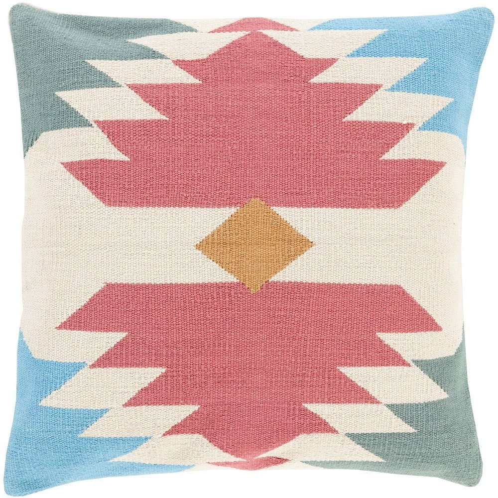 Cotton Kilim 22 x 22 x 5 Down Throw Pillow by Surya at SuperStore