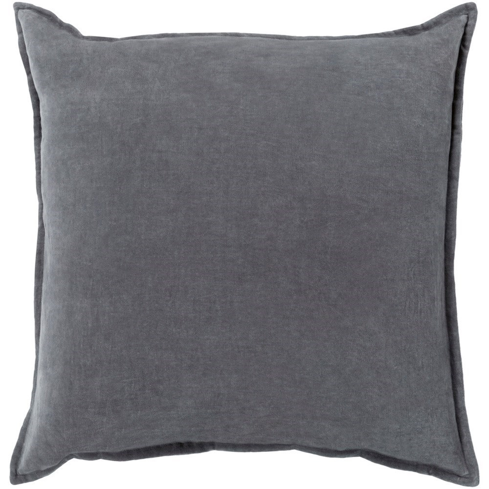 Cotton Velvet 18 x 18 x 4 Down Throw Pillow by Surya at Suburban Furniture