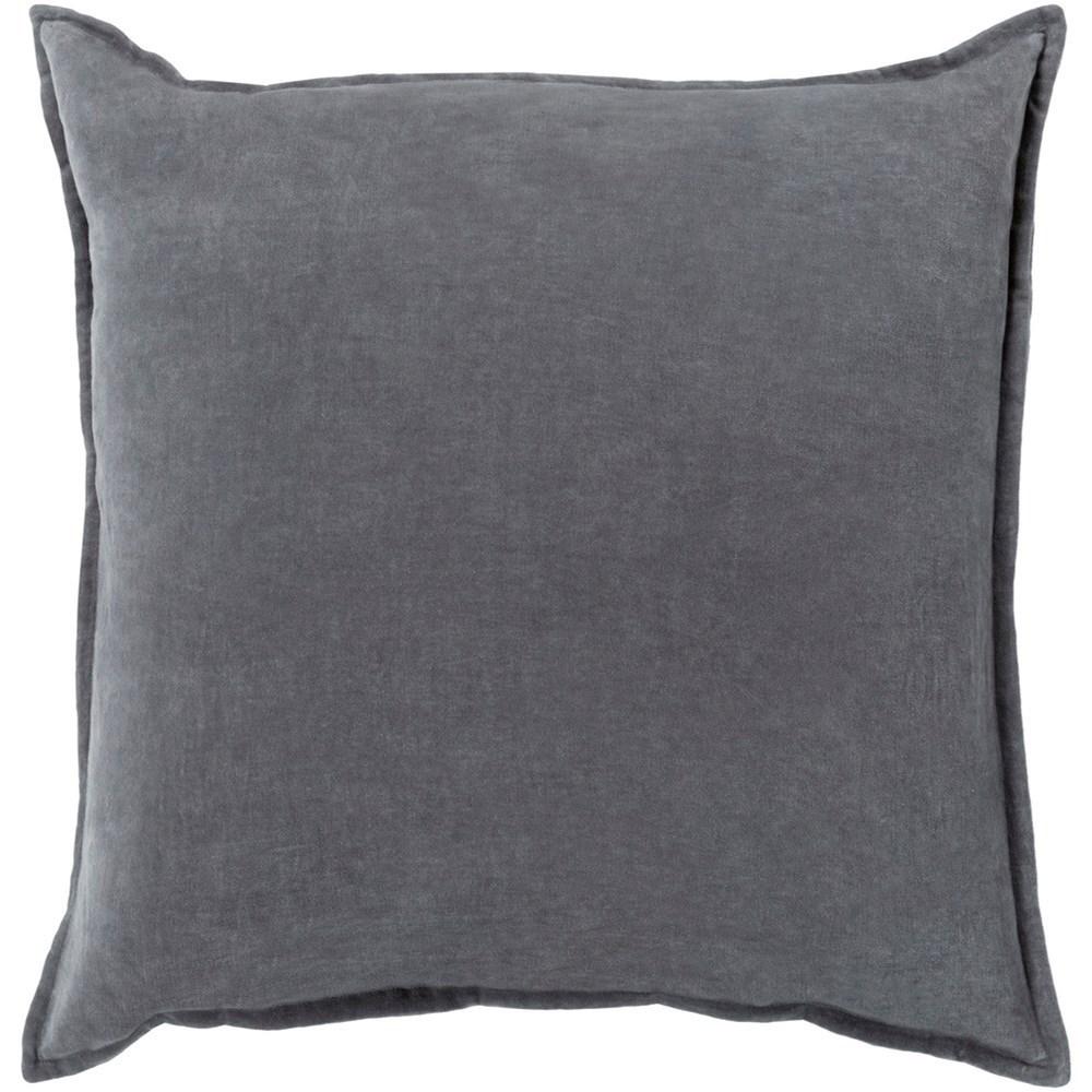 Cotton Velvet 22 x 22 x 5 Down Throw Pillow by Surya at Suburban Furniture