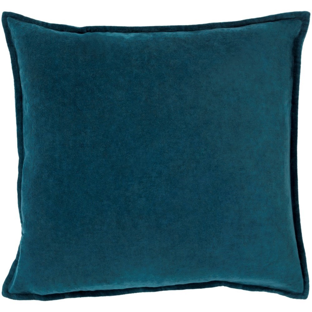 Cotton Velvet 18 x 18 x 4 Down Throw Pillow by Surya at SuperStore