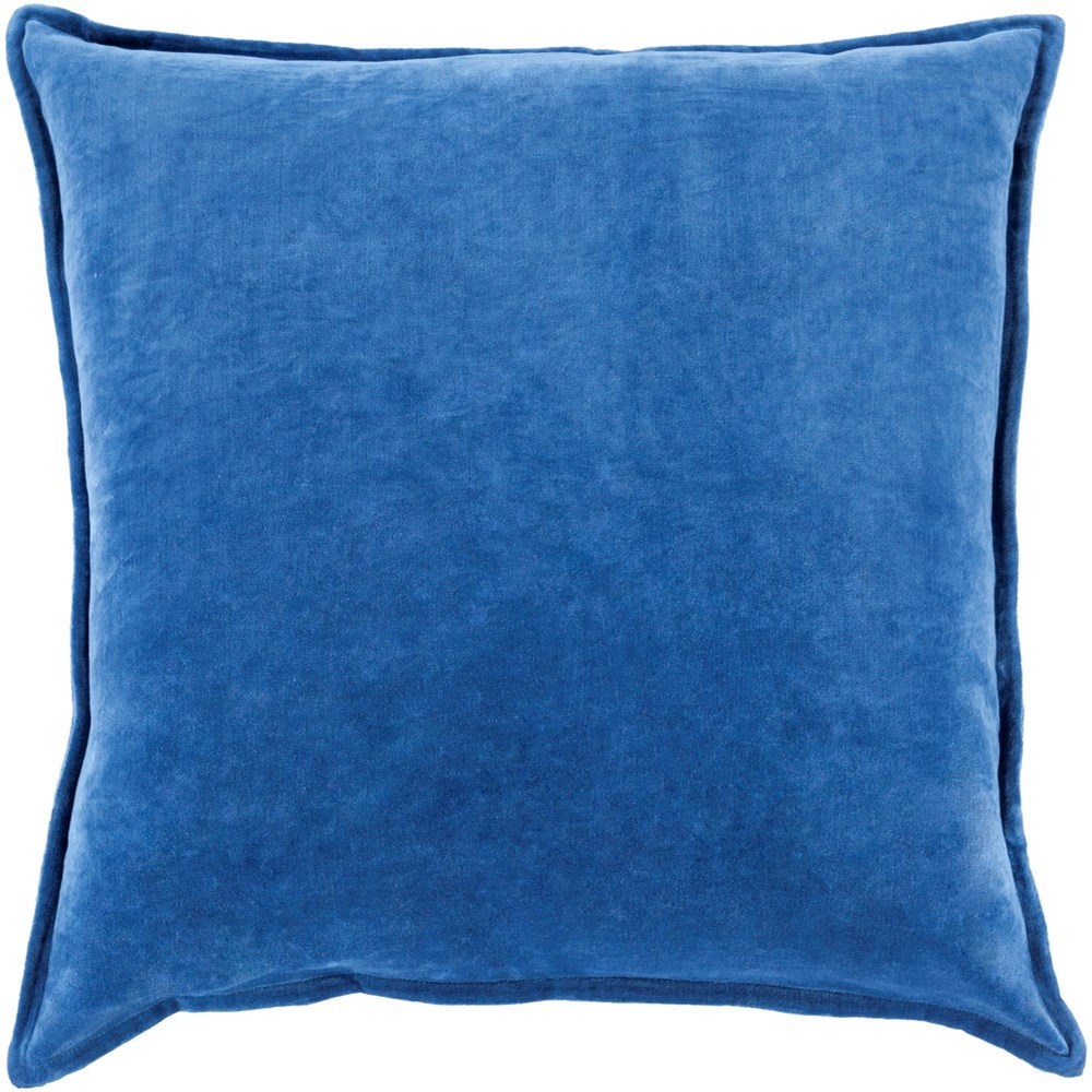 Cotton Velvet 22 x 22 x 5 Down Throw Pillow by Surya at SuperStore