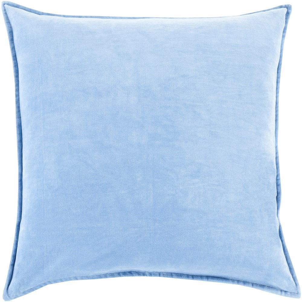 Cotton Velvet 22 x 22 x 5 Down Throw Pillow by Ruby-Gordon Accents at Ruby Gordon Home