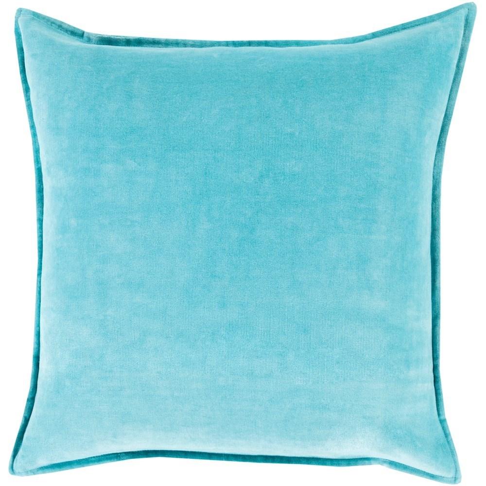 Cotton Velvet 20 x 20 x 4 Down Throw Pillow by Surya at Suburban Furniture
