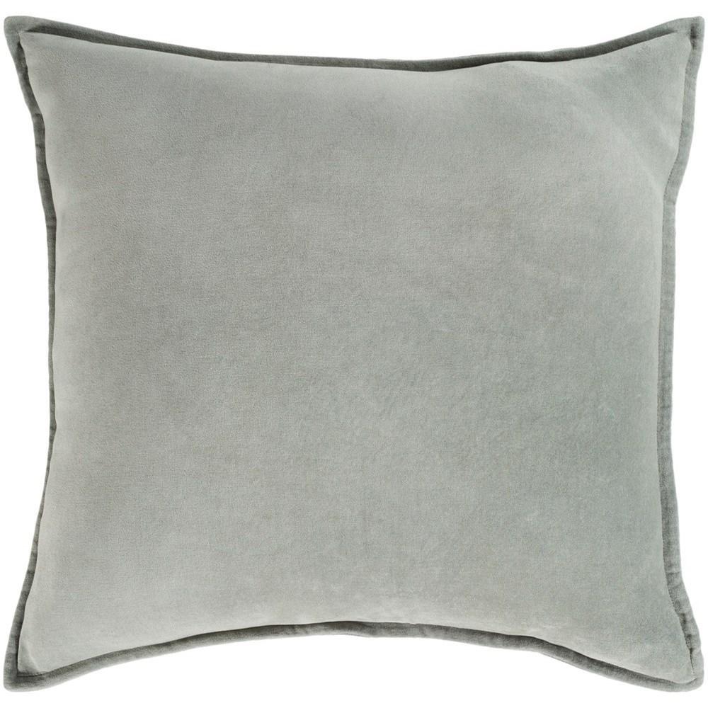 Cotton Velvet 18 x 18 x 4 Down Throw Pillow by Ruby-Gordon Accents at Ruby Gordon Home