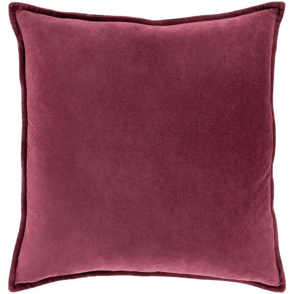 Cotton Velvet 20 x 20 x 4 Down Throw Pillow by Ruby-Gordon Accents at Ruby Gordon Home