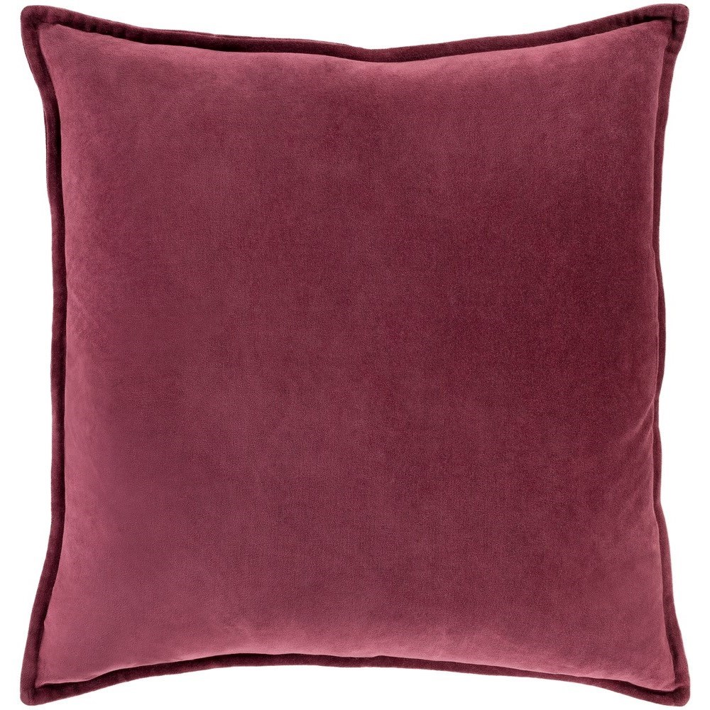 Cotton Velvet 22 x 22 x 5 Down Throw Pillow by Surya at Dream Home Interiors