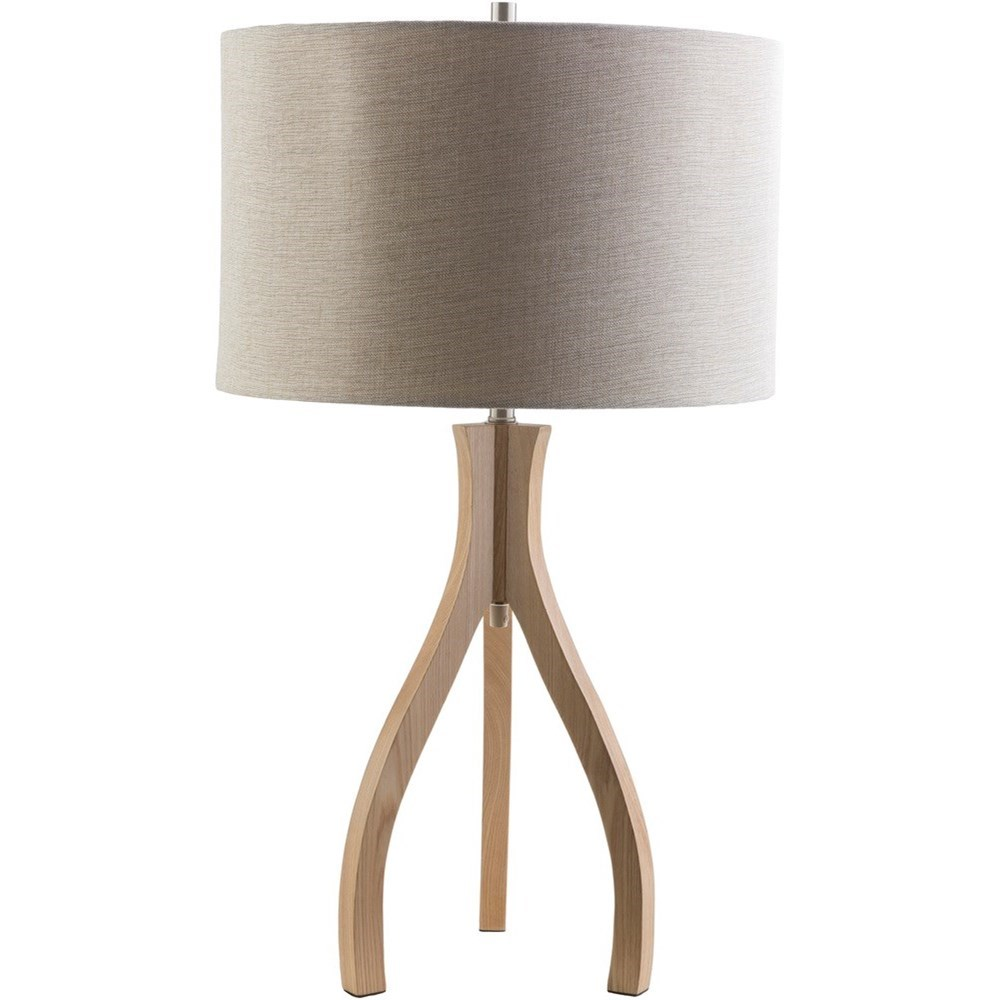 Duxbury Natural Wood Contemporary Floor Lamp by Ruby-Gordon Accents at Ruby Gordon Home