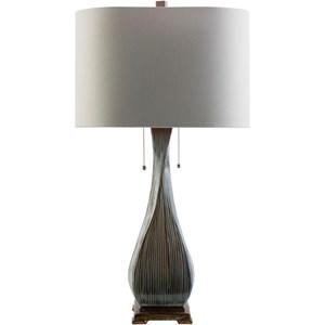 Light Brown Rustic Table Lamp