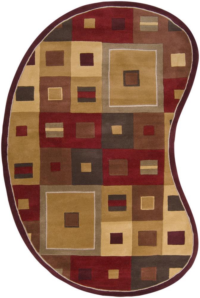 Forum 6' x 9' Kidney by Surya at Goffena Furniture & Mattress Center
