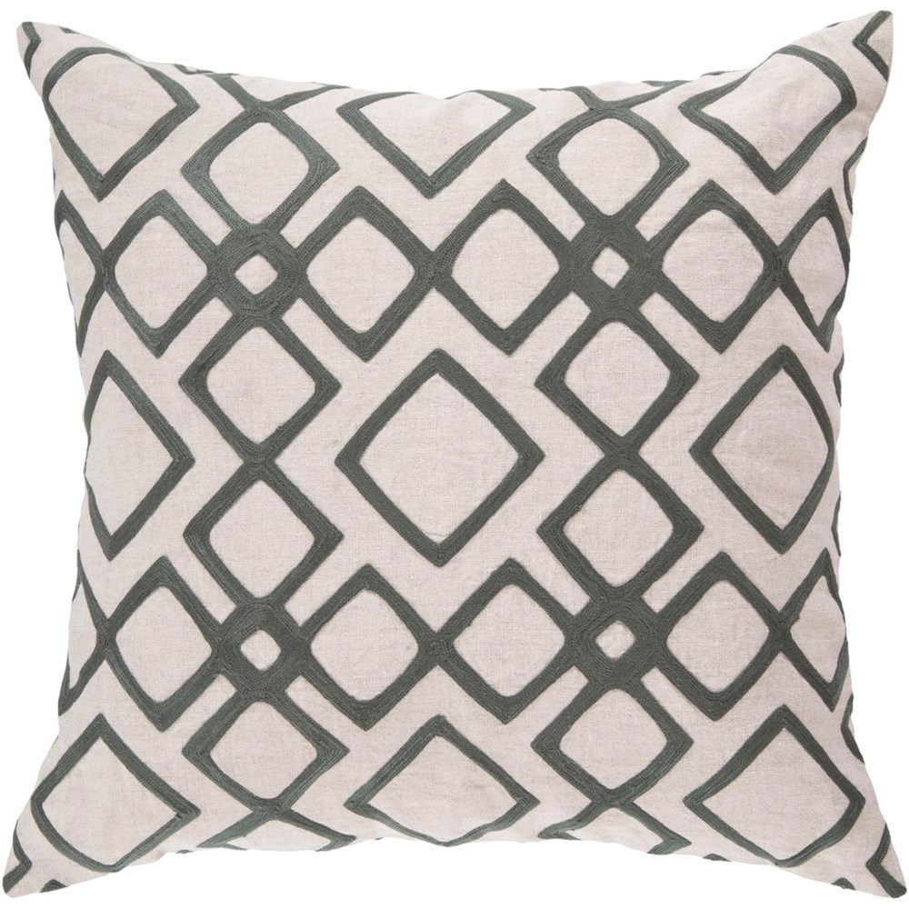 Geo Diamond 22 x 22 x 5 Down Throw Pillow by 9596 at Becker Furniture