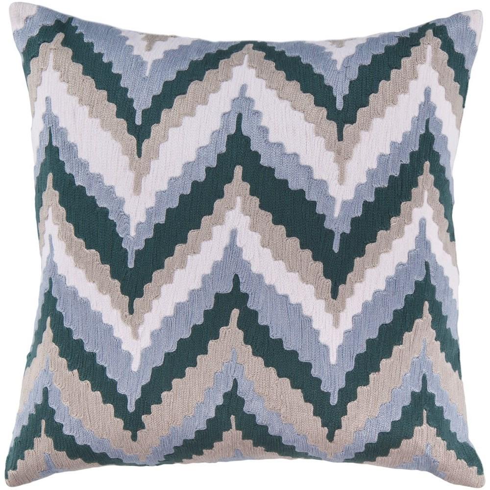 Ikat Chevron 22 x 22 x 5 Down Throw Pillow by Surya at Upper Room Home Furnishings