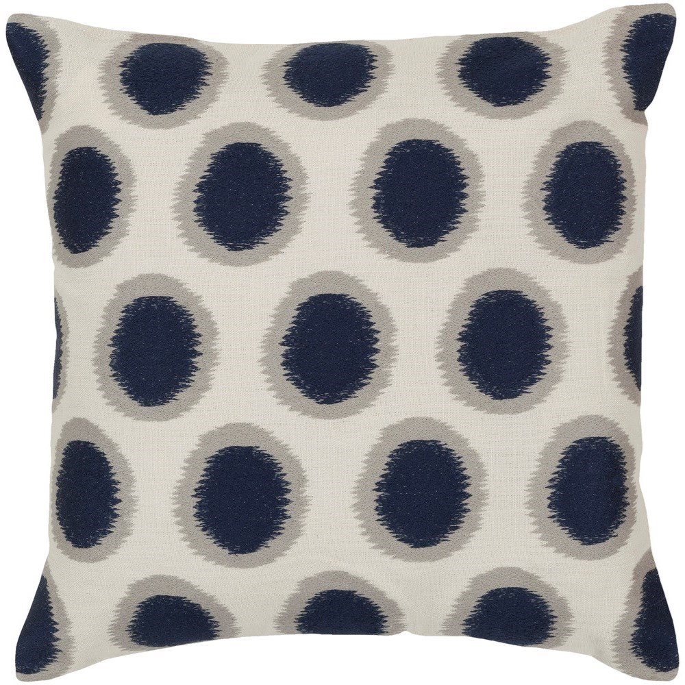 Ikat Dots 18 x 18 x 4 Down Throw Pillow by Ruby-Gordon Accents at Ruby Gordon Home