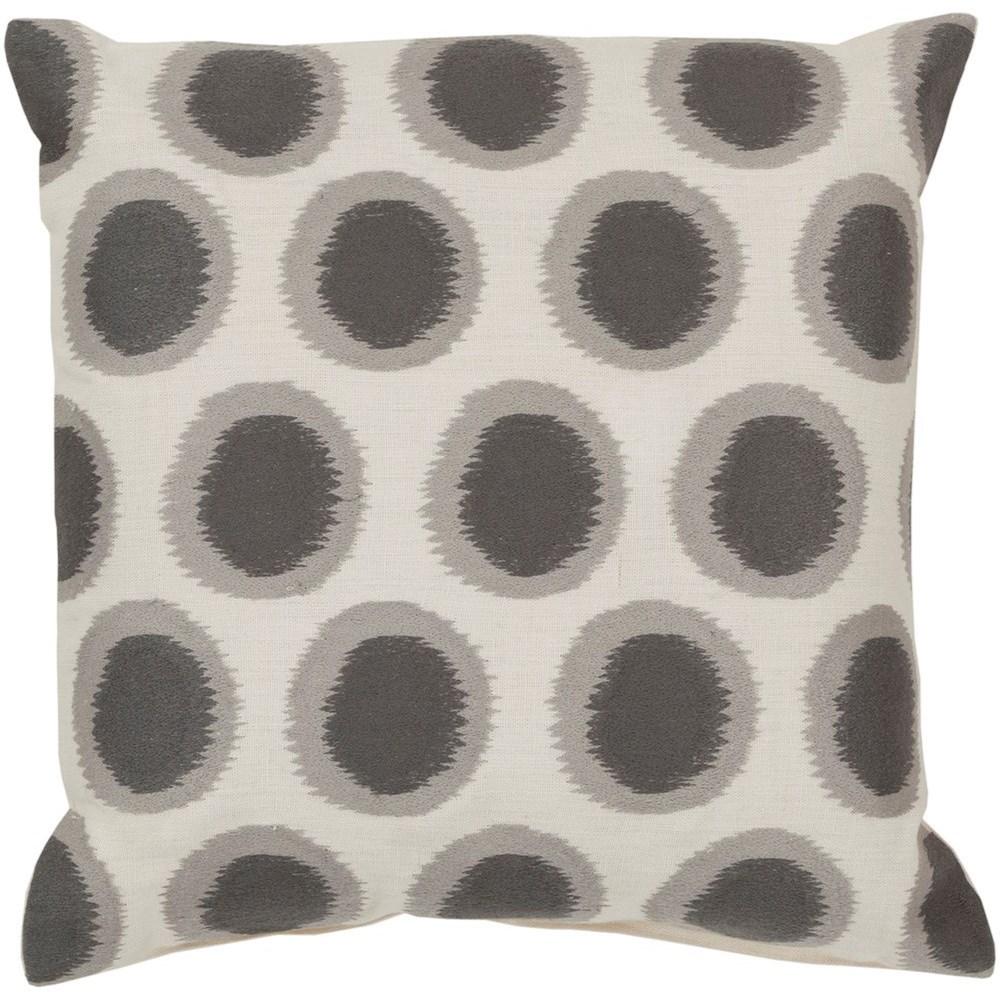 Ikat Dots 22 x 22 x 5 Down Throw Pillow by Ruby-Gordon Accents at Ruby Gordon Home