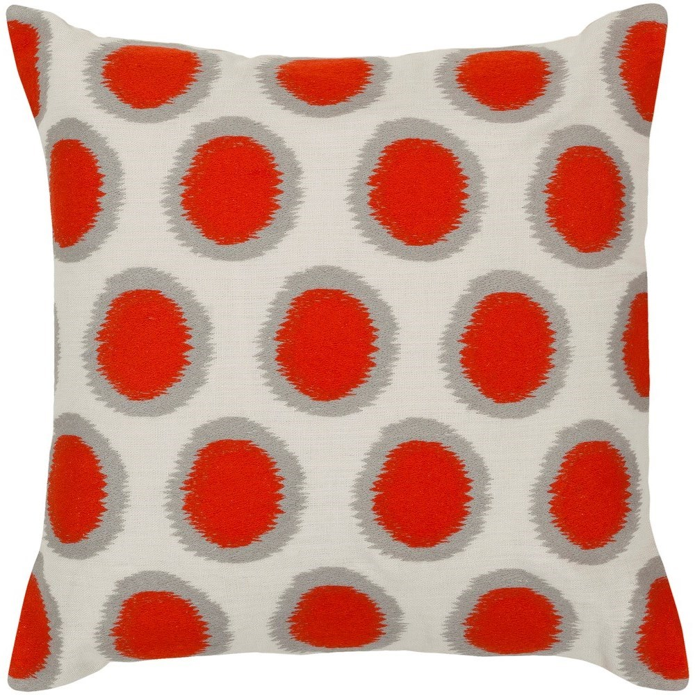 Ikat Dots 20 x 20 x 4 Polyester Throw Pillow by Ruby-Gordon Accents at Ruby Gordon Home