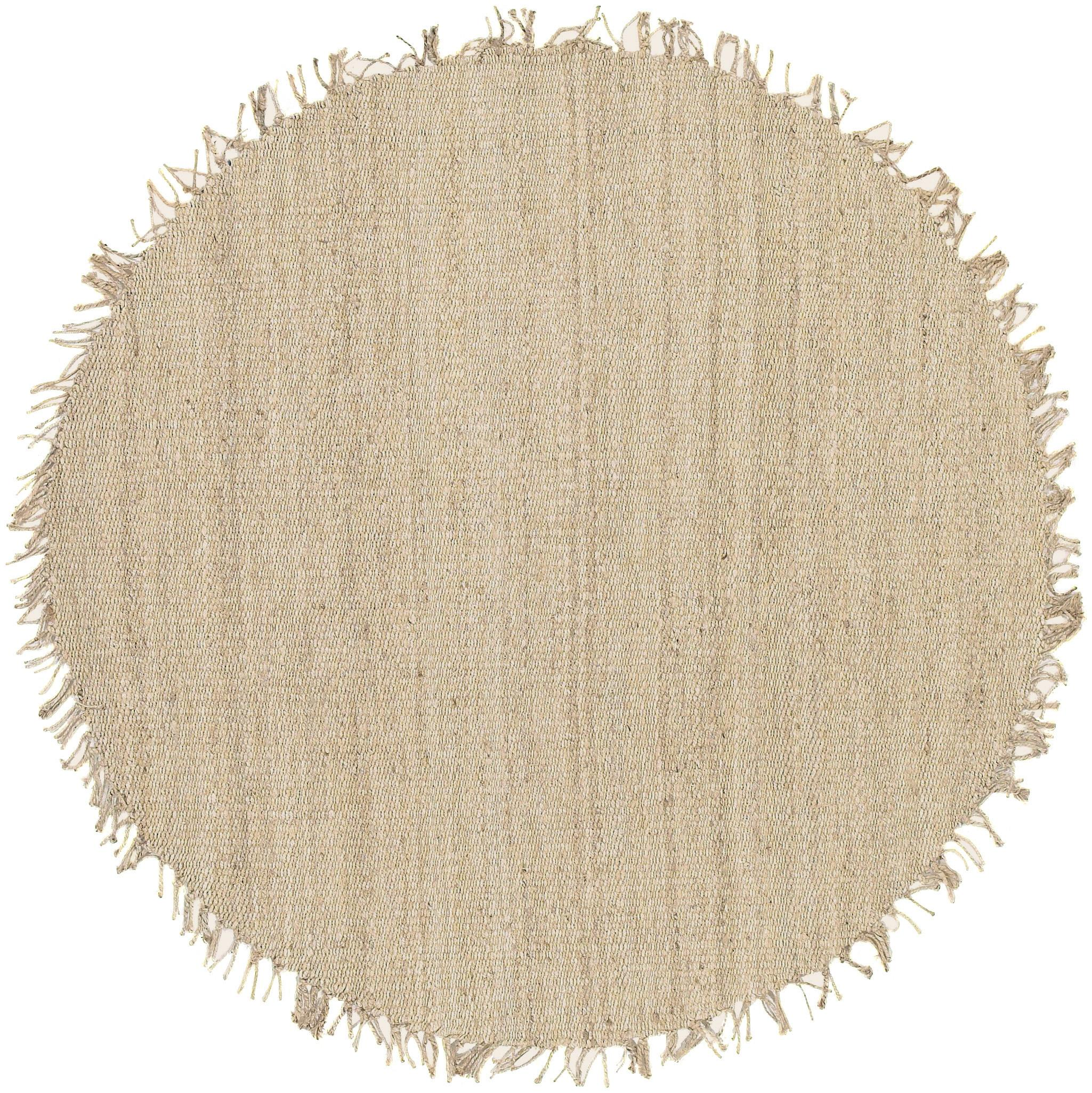 Jute Bleached 8' Round by Ruby-Gordon Accents at Ruby Gordon Home