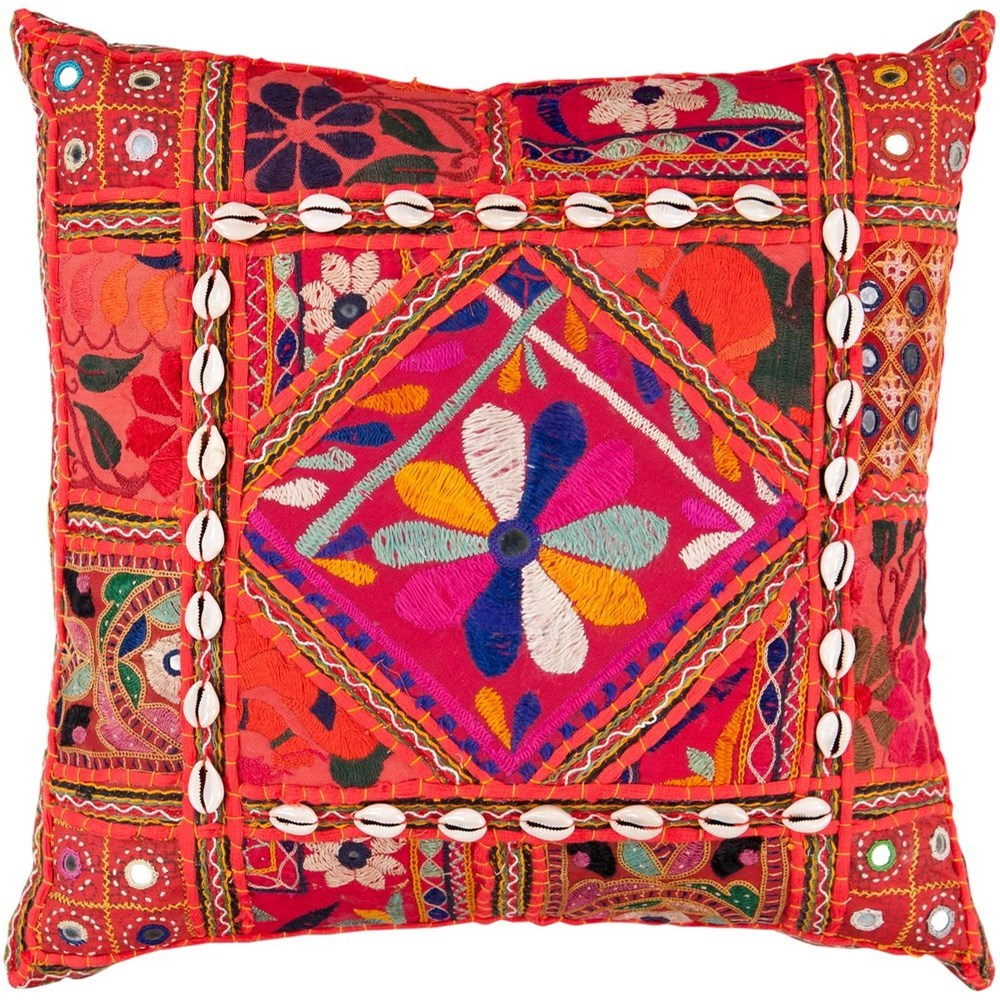 Karma 18 x 18 x 4 Down Throw Pillow by Surya at Reid's Furniture