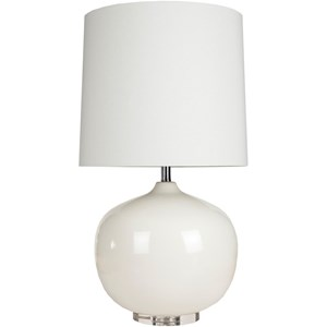Ivory White Modern Table Lamp