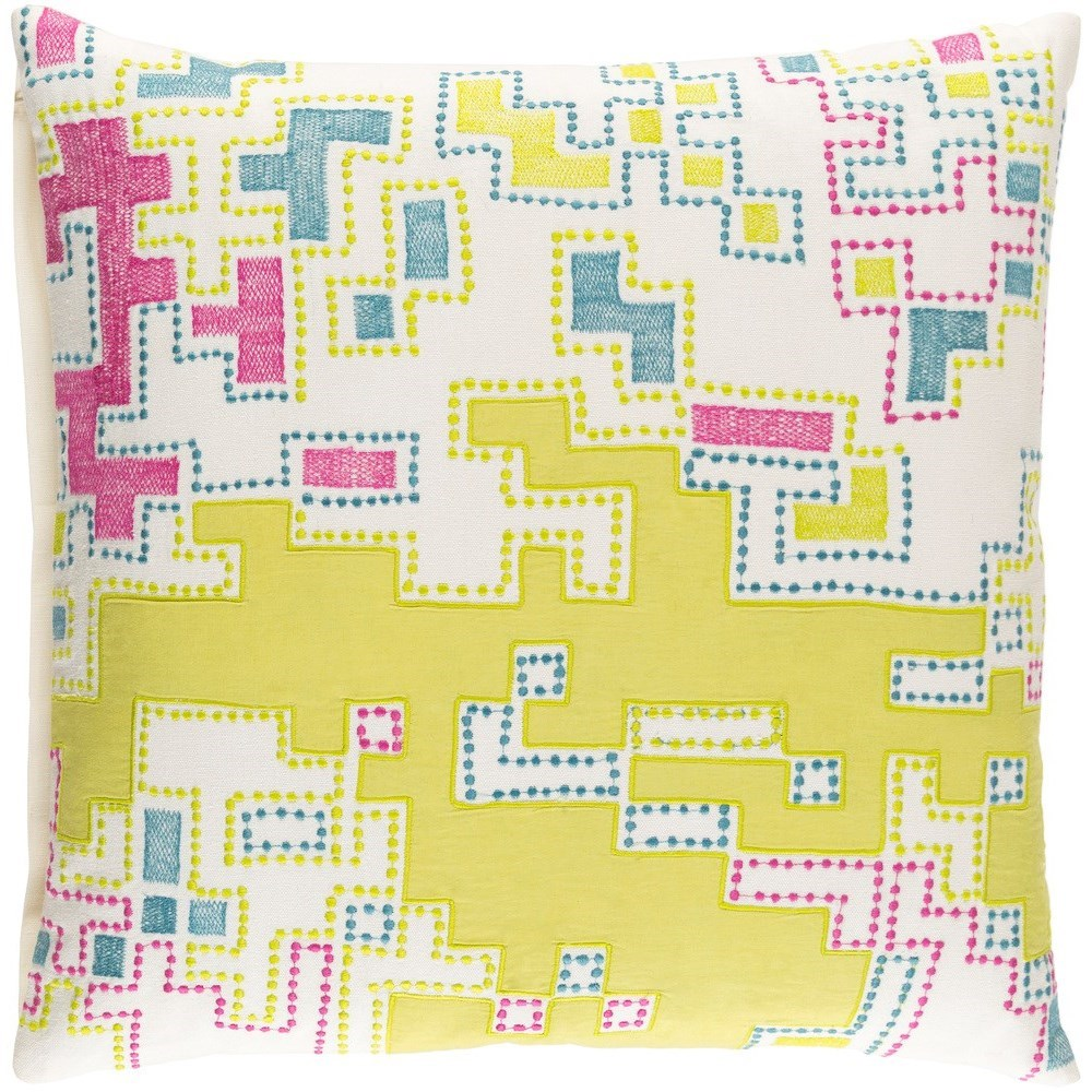 Macro 22 x 22 x 5 Polyester Throw Pillow by Ruby-Gordon Accents at Ruby Gordon Home