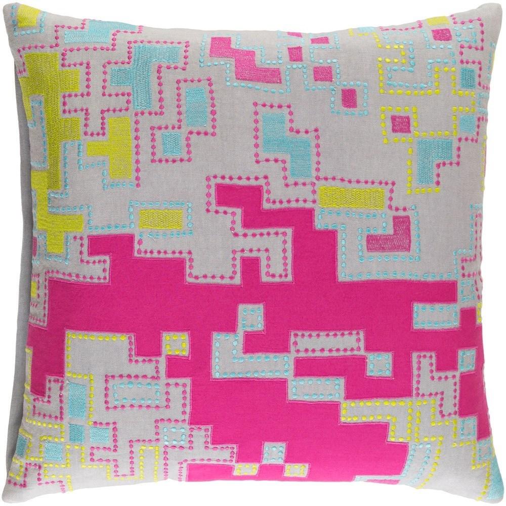 Macro 18 x 18 x 4 Down Throw Pillow by Ruby-Gordon Accents at Ruby Gordon Home