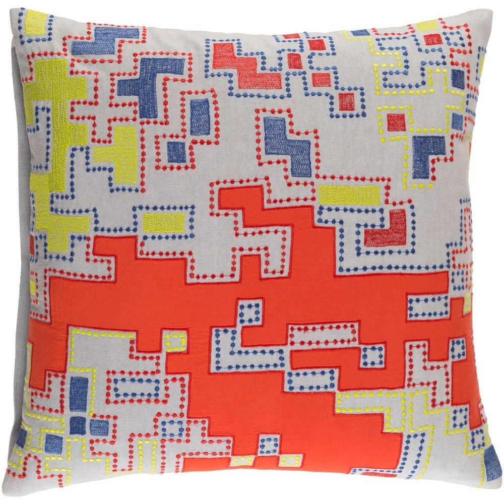 Macro 22 x 22 x 5 Polyester Throw Pillow by 9596 at Becker Furniture