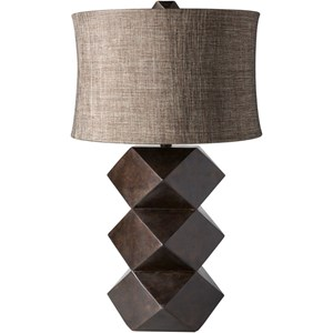 Painted Global Table Lamp