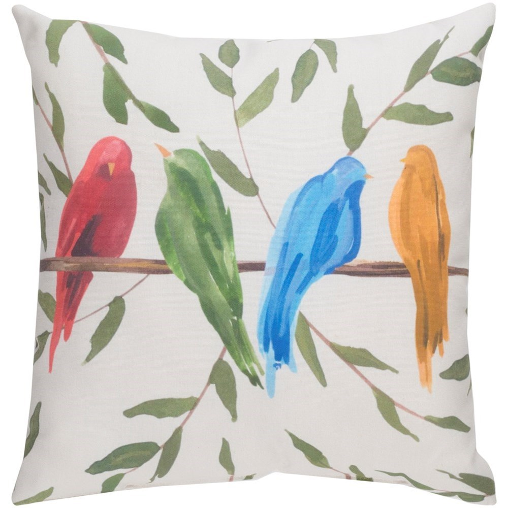 Paradise Birds 18 x 18 x 4 Polyester Throw Pillow by Ruby-Gordon Accents at Ruby Gordon Home