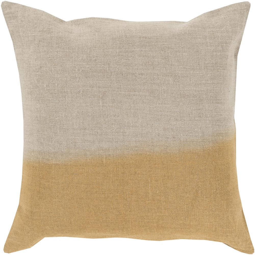 "Pillows 20"" x 20"" Dip Dyed Pillow by Surya at Upper Room Home Furnishings"